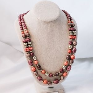 Vintage - Multi-Beaded Necklace